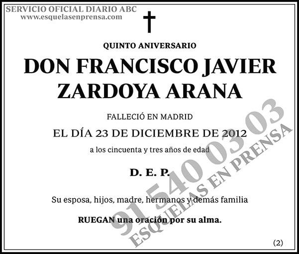 Francisco Javier Zardoya Arana